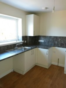 Typical kitchen at Liddesdale Road, Hawick